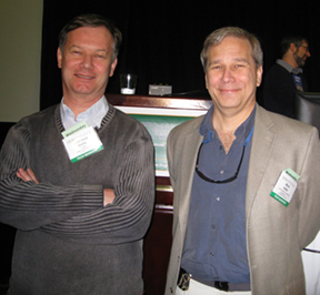 Photo of Jean-loup Gailly and Mark Adler receiving the USENIX STUG award in 2009.
